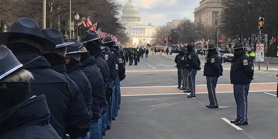 Alabama state troopers assist with Biden inaugural security