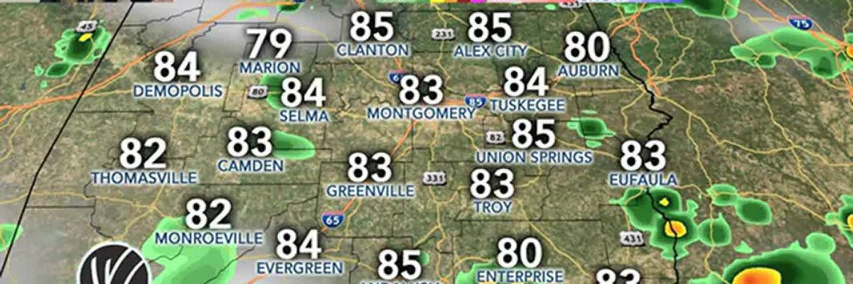 Radar Check: Scattered showers and storms continue to develop