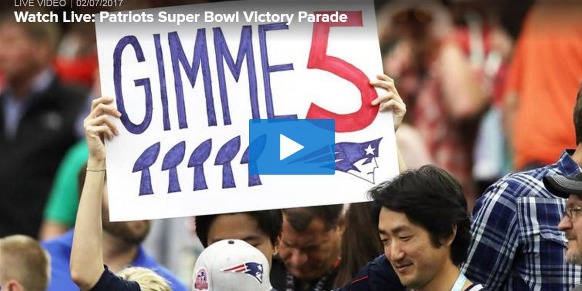 Watch Live: Patriots Super Bowl victory parade