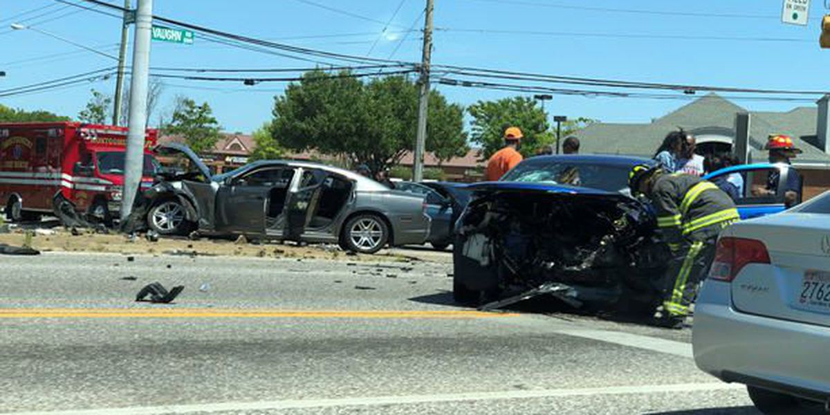 2-vehicle crash at intersection of Vaughn and Bell roads