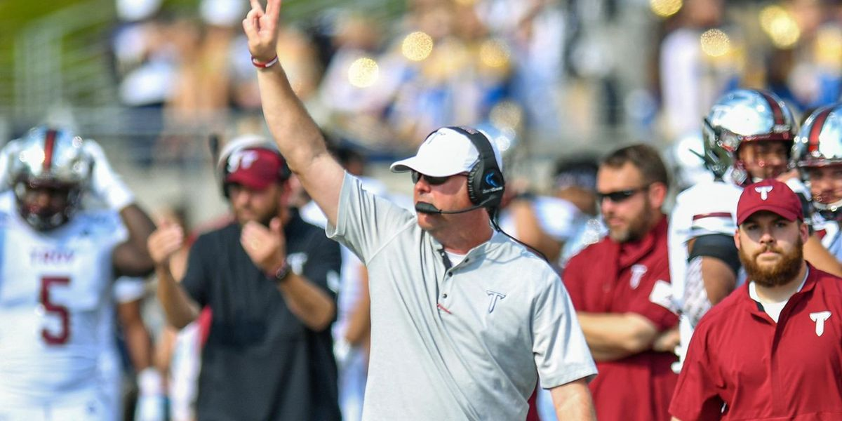 Troy football adjusting to new 'normal' during COVID-19