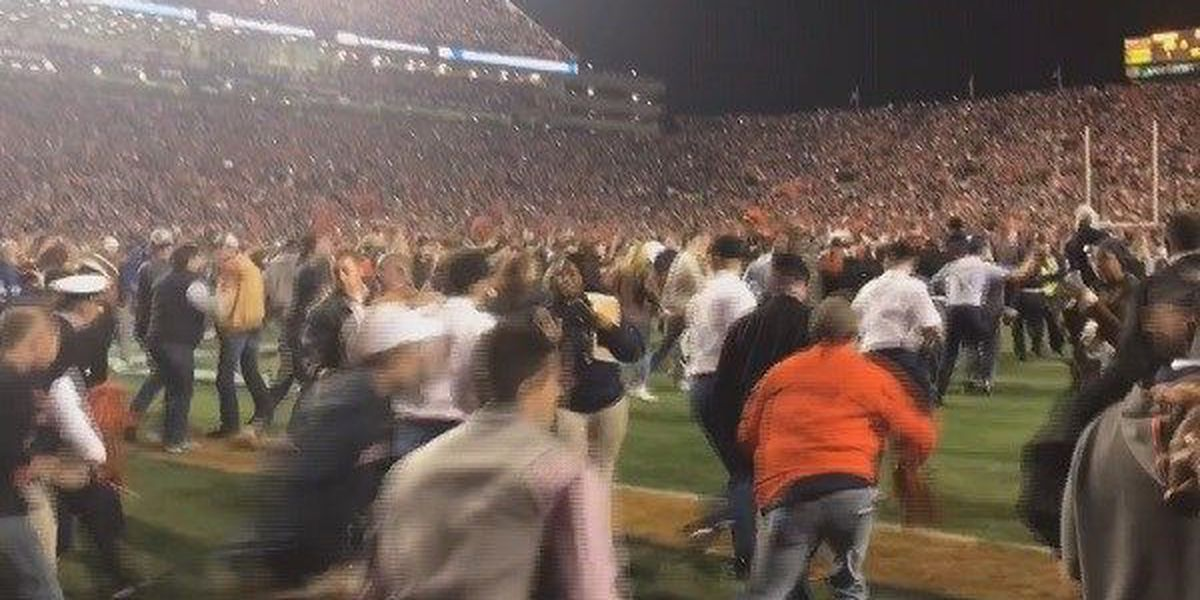 Auburn fined $250K for fans rushing field following Iron Bowl