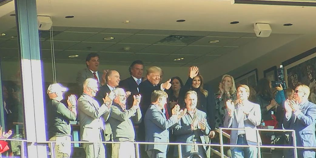 President Trump pays a visit to T-Town
