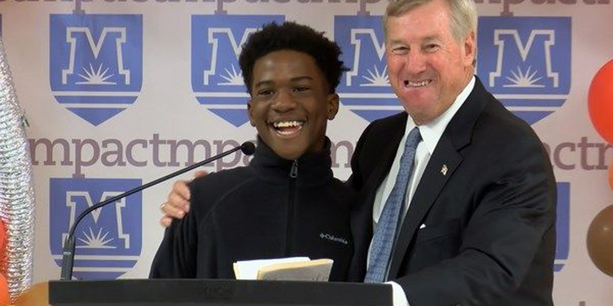 Montgomery student gives awesome response when put on the spot at news conference