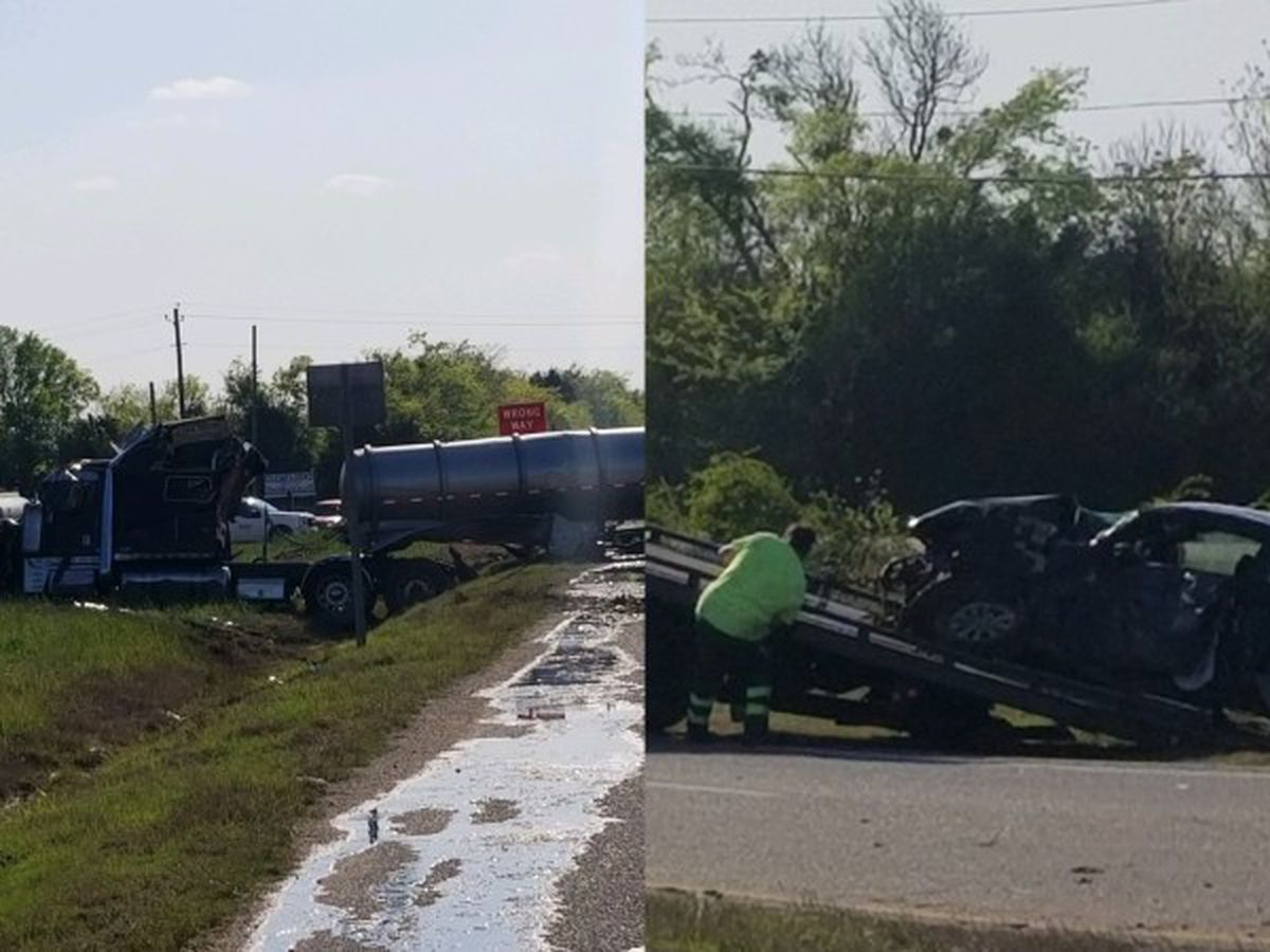 Highway 80′s westbound lanes reopen following 18-wheeler crash