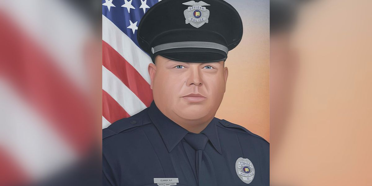 Artist creates Alabama's latest fallen officer portrait for Billy Clardy