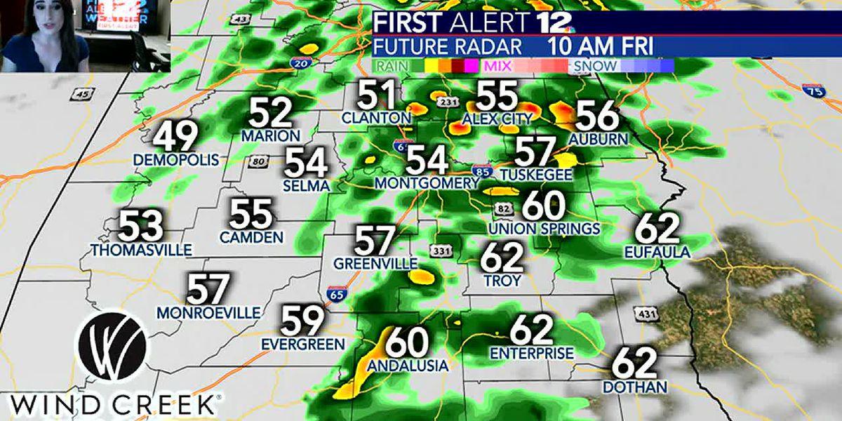 Tracking showers Friday; sunshine returns Saturday