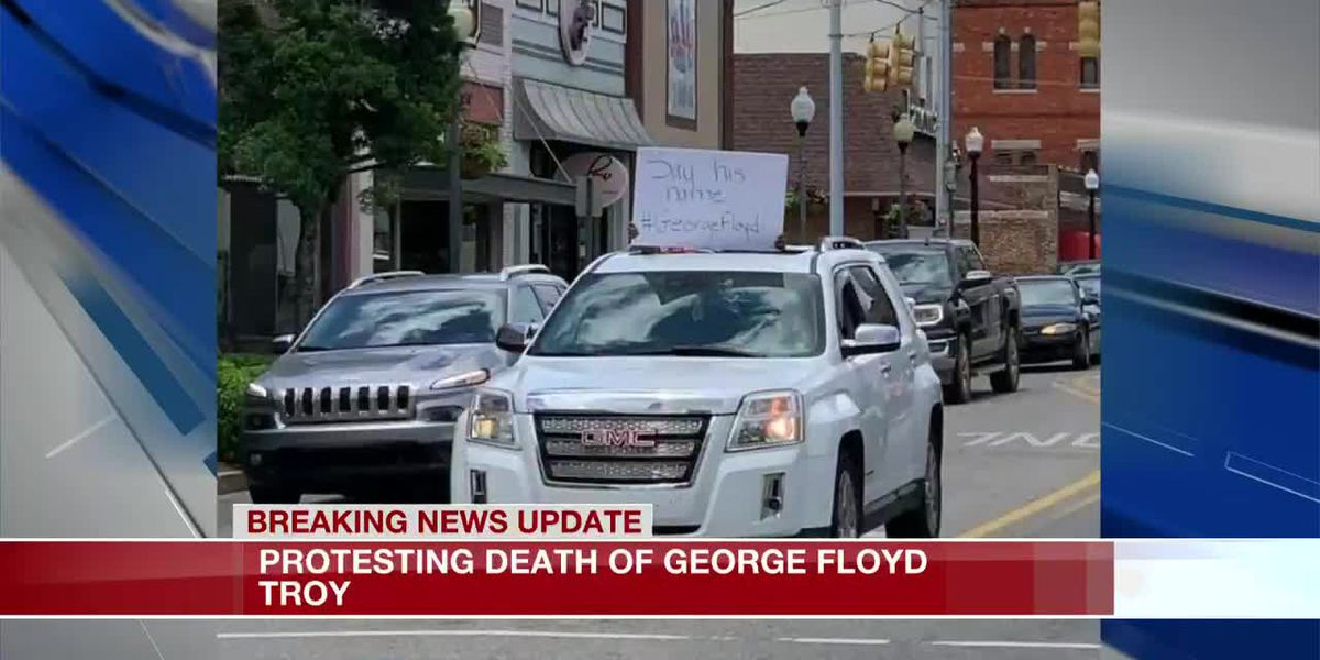 Group in downtown Troy holds protest for George Floyd