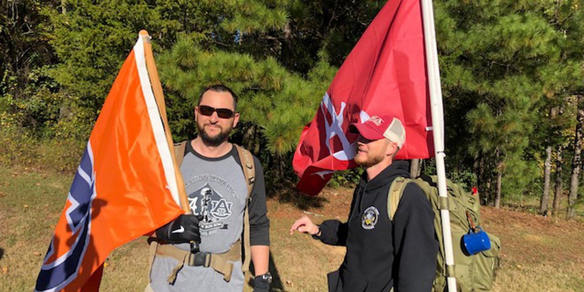Iron March: Vets from Auburn and Bama walking 150 miles