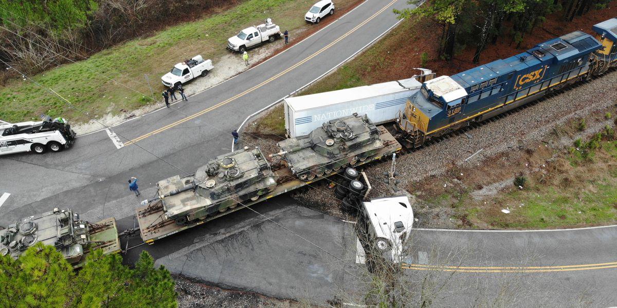 ALEA investigating crash involving train and 18-wheeler in Chambers Co.