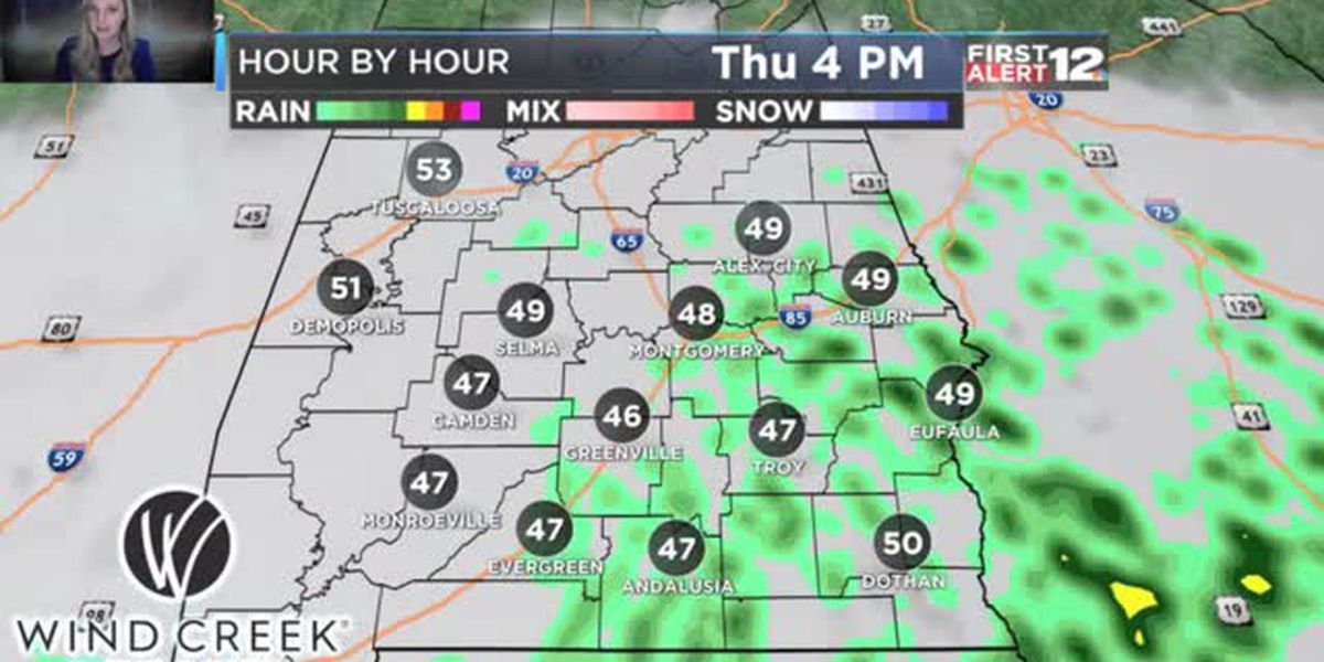 Thursday afternoon forecast update