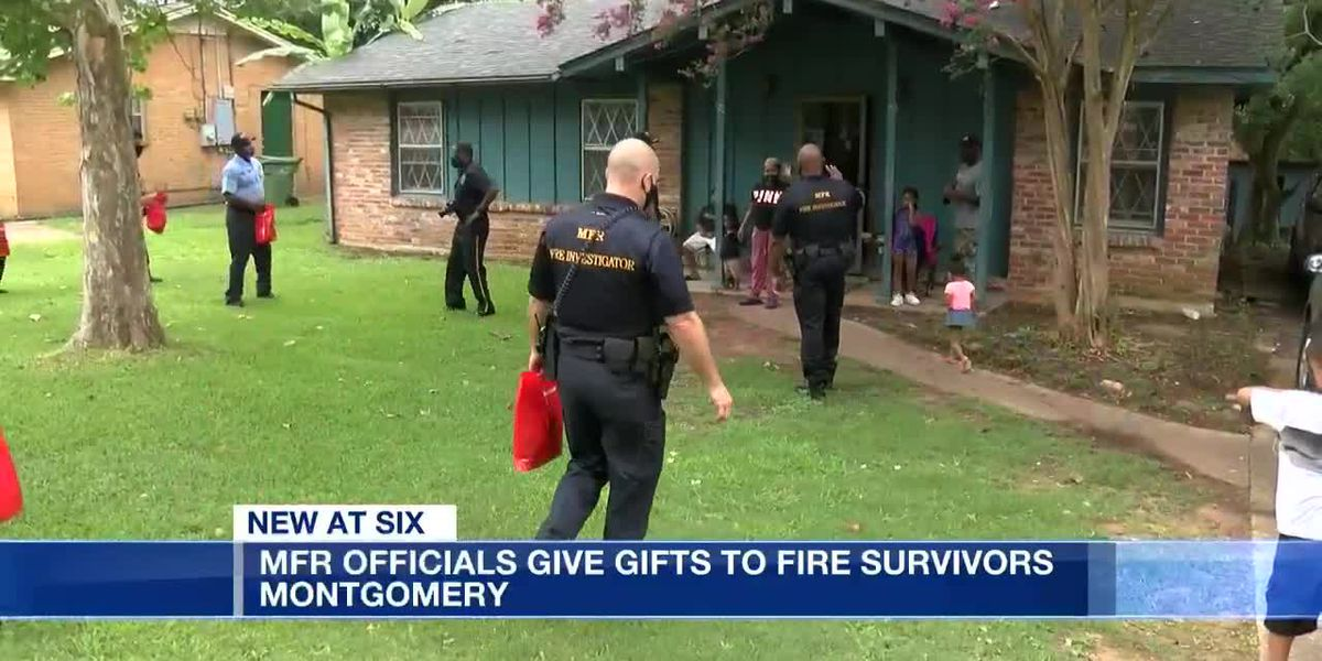 Montgomery Fire officials give gifts to fire survivors