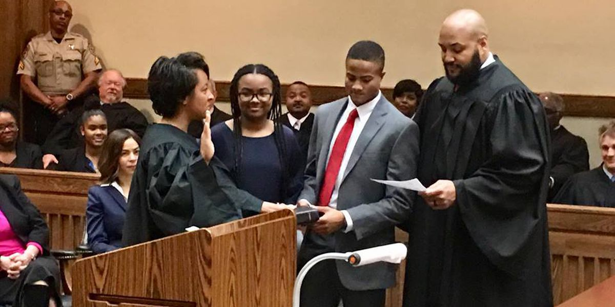 New District Judge Gaines sworn in by husband, Circuit Judge J.R. Gaines