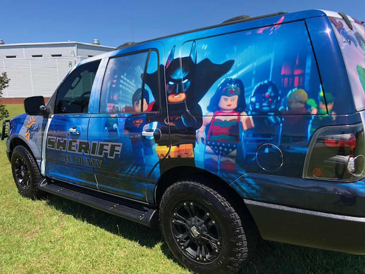 Lee County Sheriff Office's 'super' vehicle a hit with kids