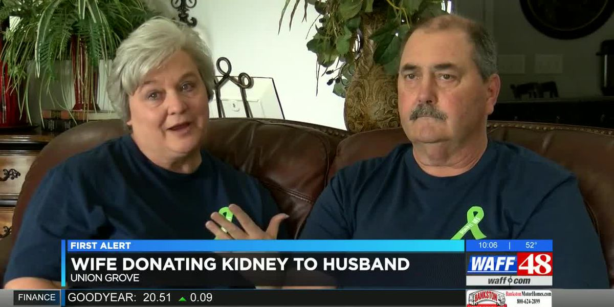 Wife donating kidney to husband, calling for more organ donors
