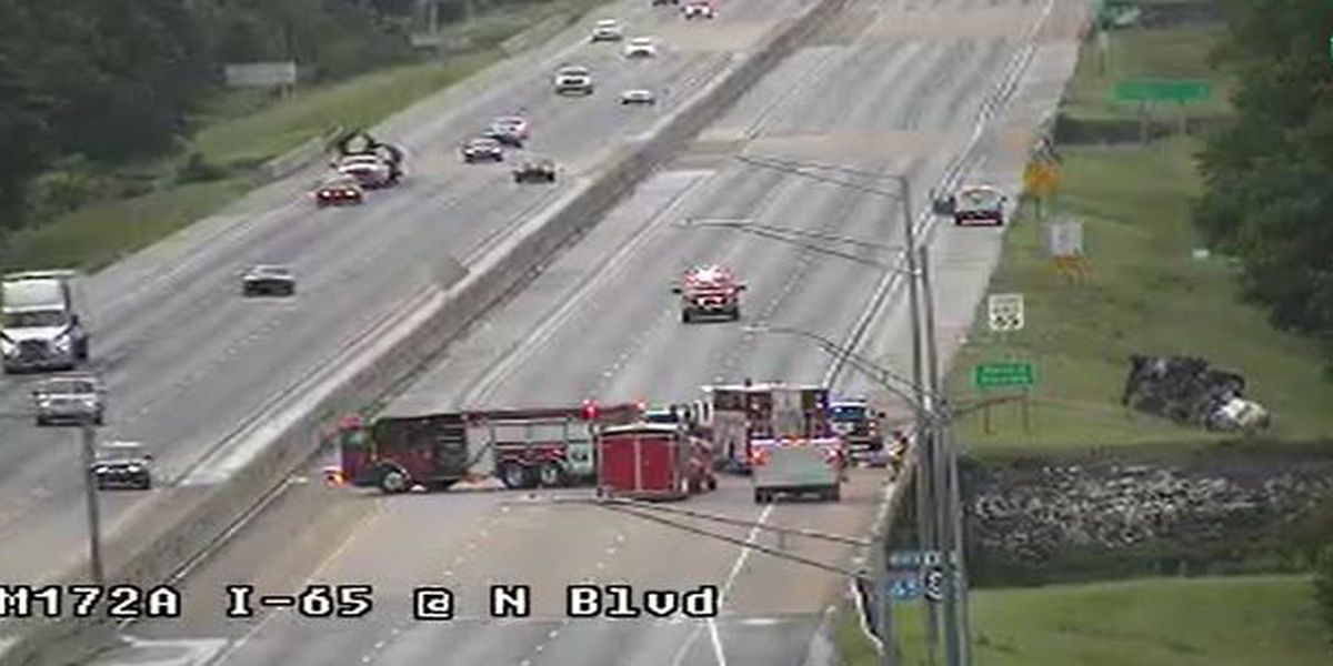 Possible acid spill closes I-65 NB at Northern Boulevard Tuesday