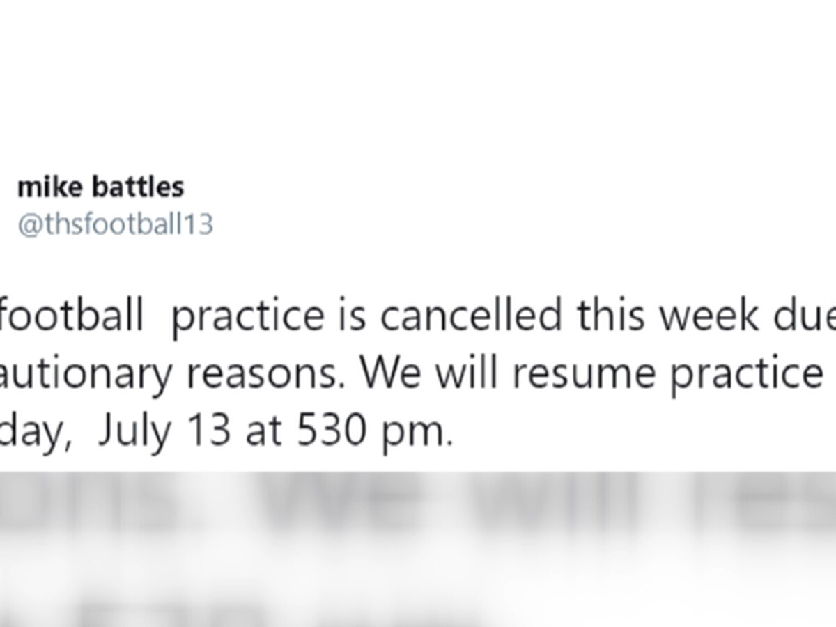 Tallassee HS football team cancels practices this week due to player testing positive for COVID-19