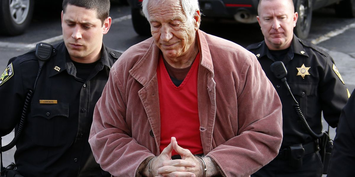 Sandusky arrives at court for resentencing in sex abuse case