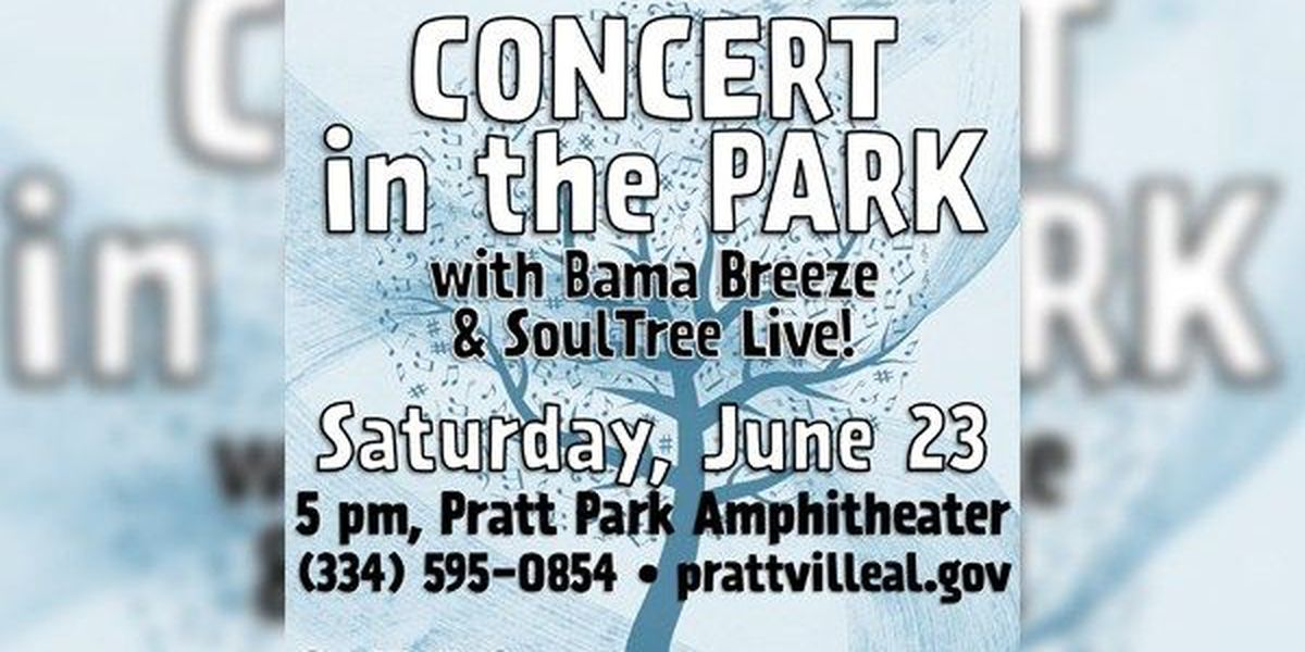 Bama Breeze Band and Soul Tree to play at free Prattville Concert