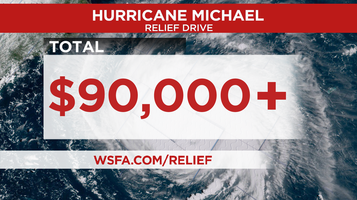 More than $90,000 donated during Hurricane Michael relief drive
