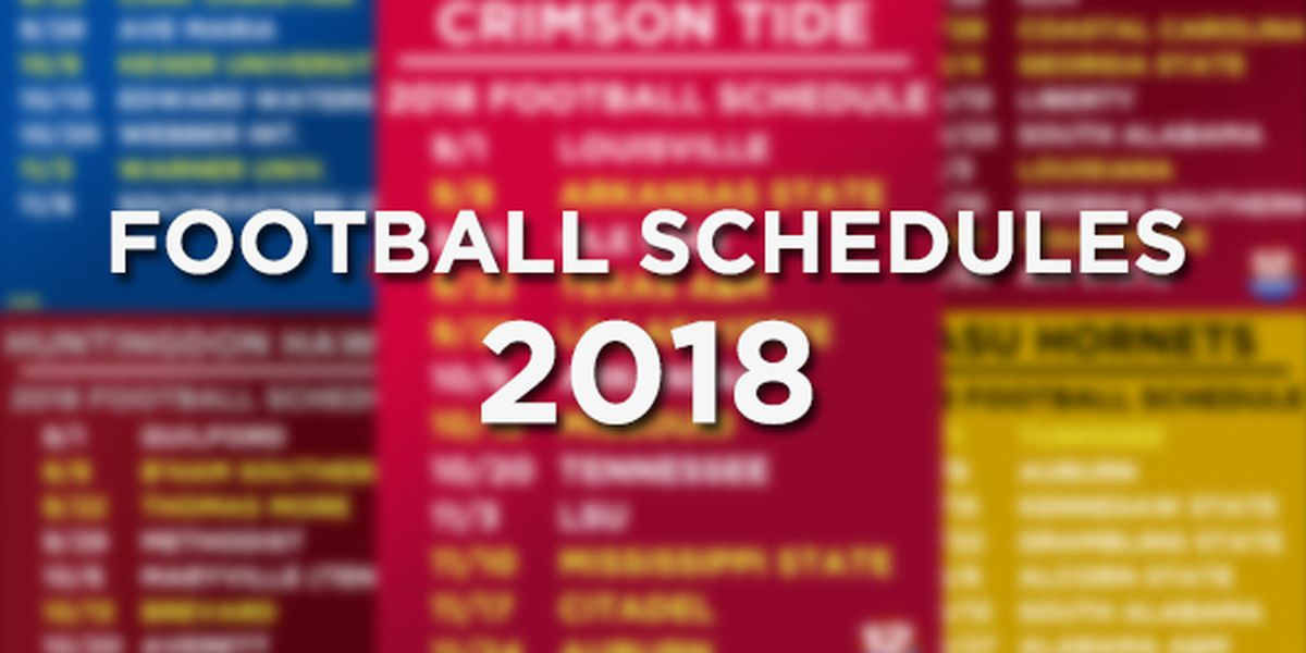 2018 college football game schedules