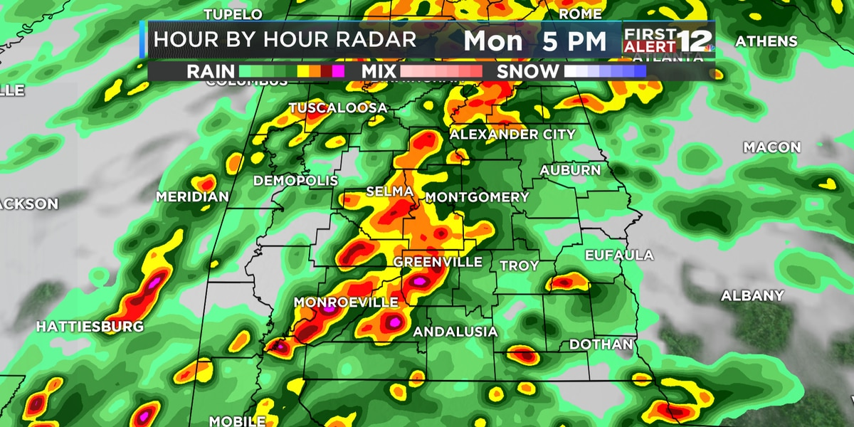 First Alert: Tracking widespread rain, a few storms in S. Alabama