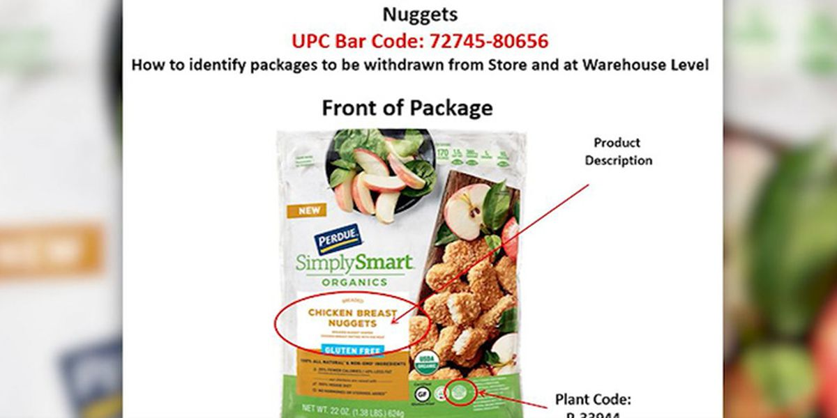 Recall: Chicken nuggets may contain wood pieces
