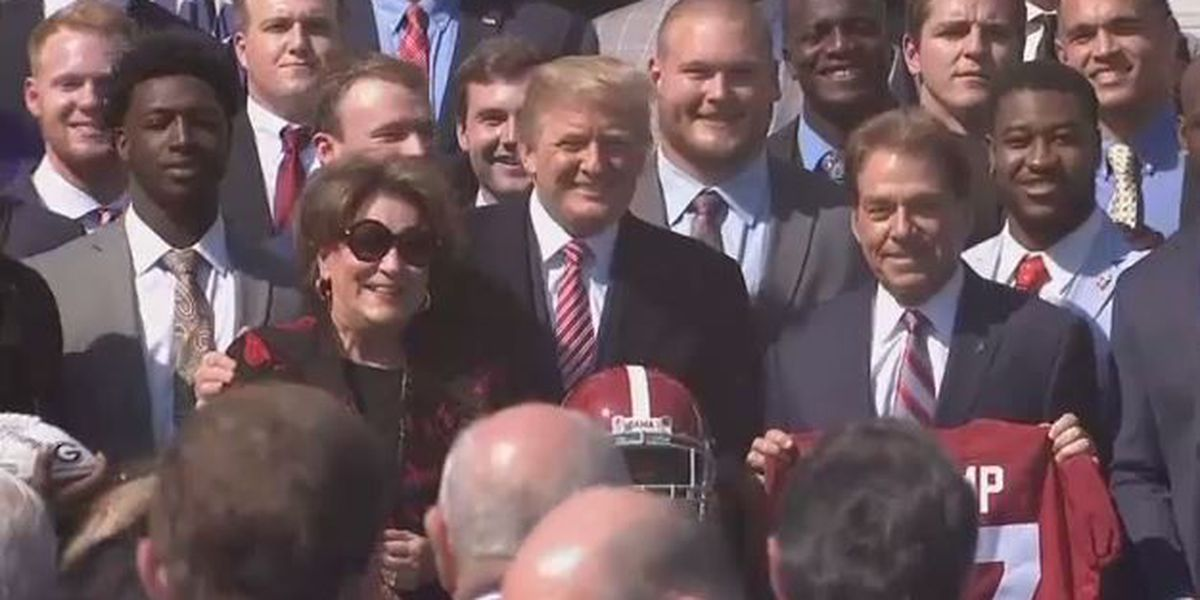 Crimson Tide visits White House for fifth time since 2010
