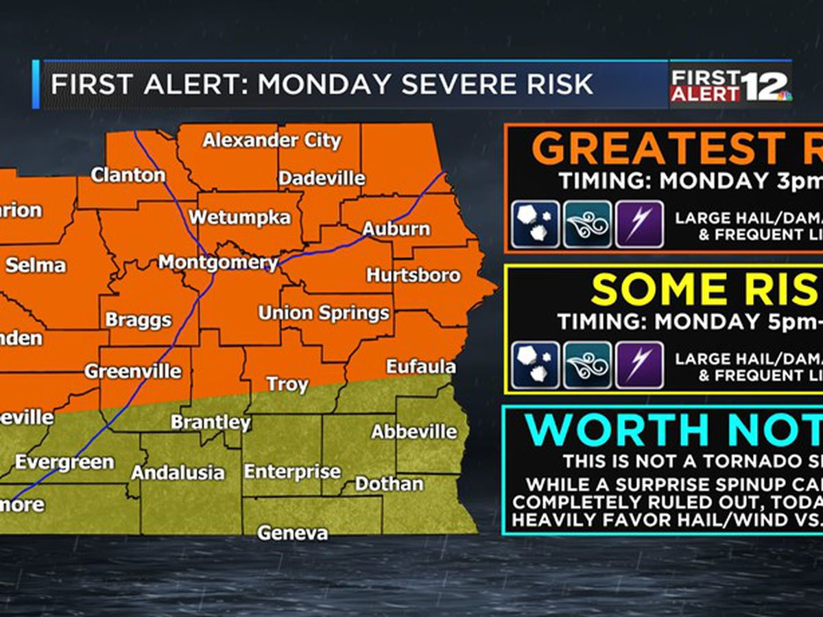 First Alert: Severe storms possible Monday