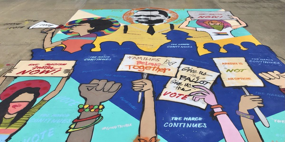 New downtown Montgomery mural depicts ongoing movement for voting rights