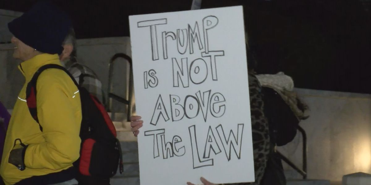Activists call for president's impeachment at 'Nobody is Above the Law' rally