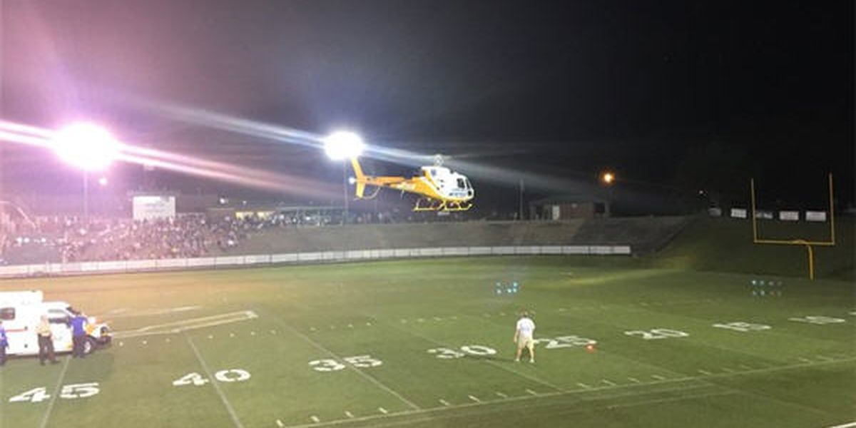 Player airlifted to hospital during Florala-Brantley football game