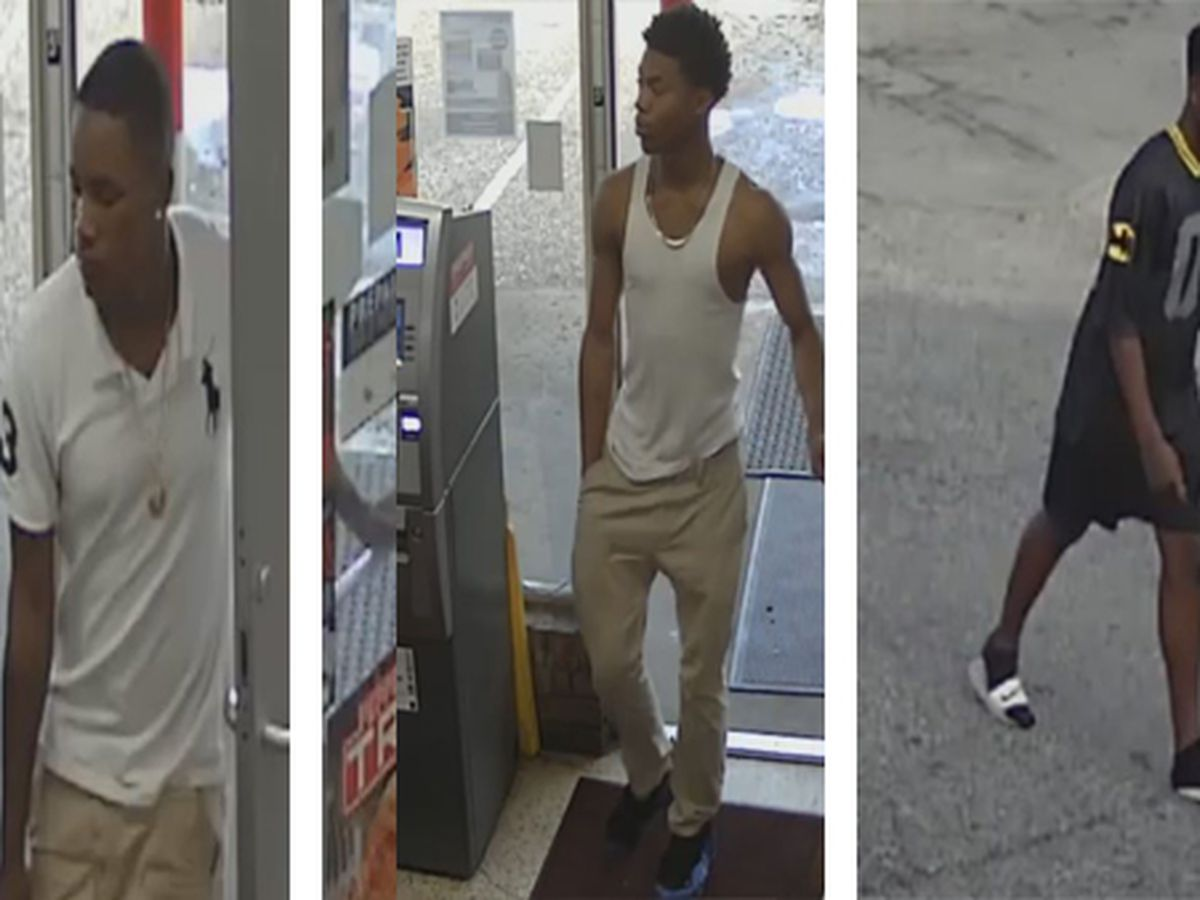 3 suspects sought in theft on state property
