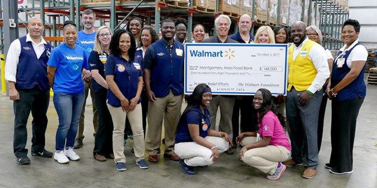 Walmart Foundation awards $148K grant to Montgomery Area Food Bank