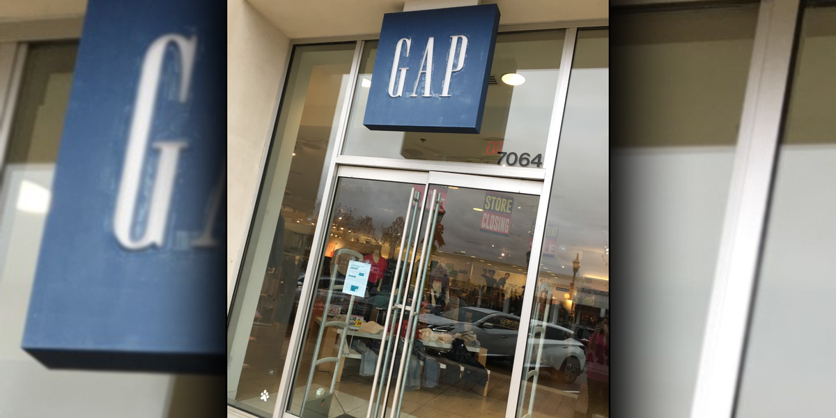 Gap, Motherhood Maternity closing at The Shoppes at EastChase