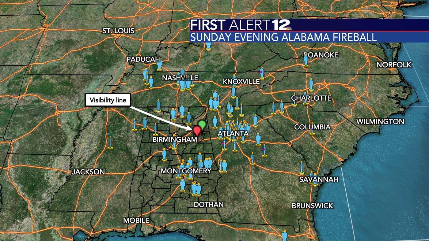 November 1st Alabama Fireball