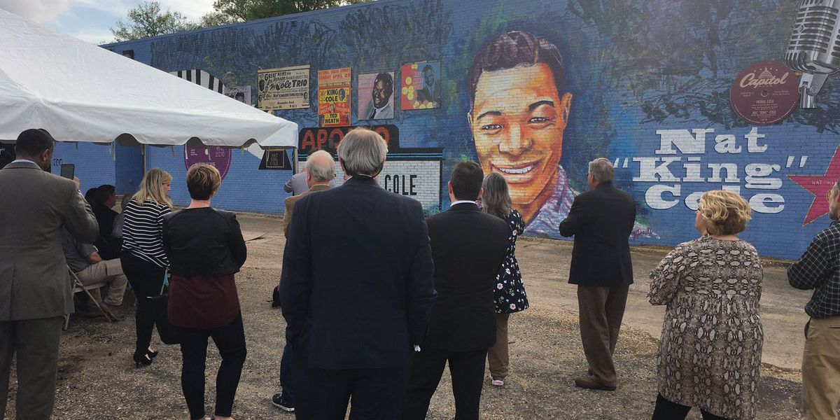 Mural dedicated to Montgomery-native, music icon Nat King Cole