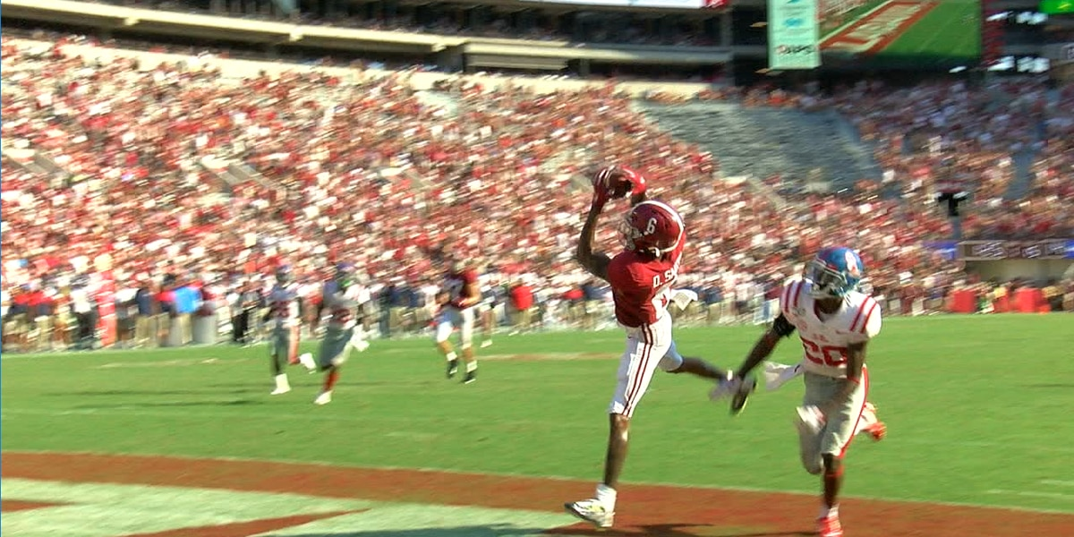 Tagovailoa and Smith deliver record breaking performance against Ole Miss