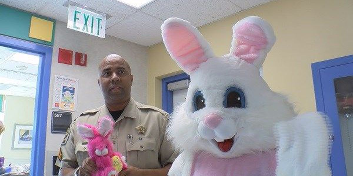 Easter bunny hops from hospital to hospital in Montgomery
