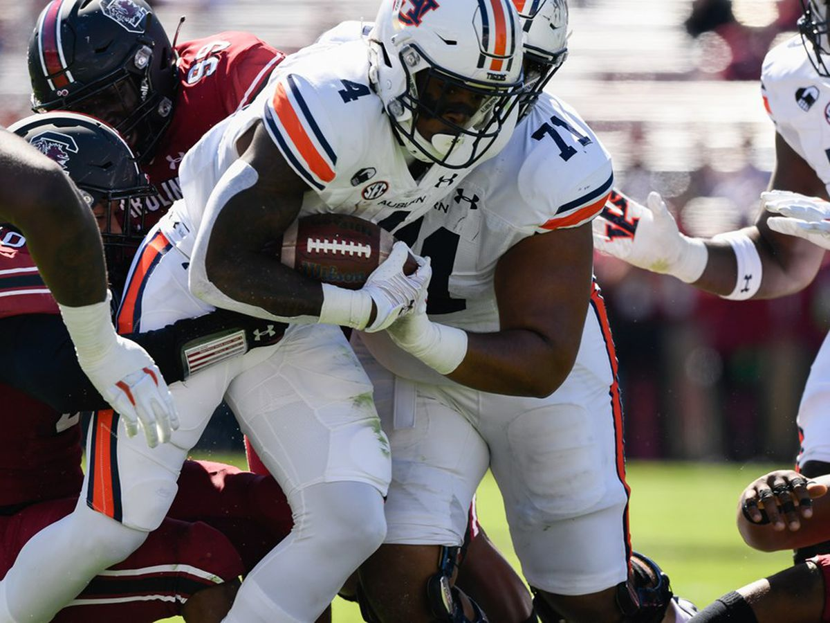 No. 15 Auburn falls to South Carolina 30-22
