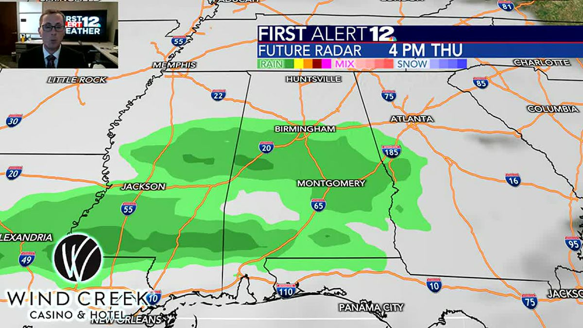 Rain moves in Thursday and most will see a soaking
