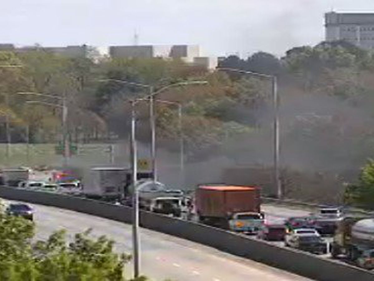 Traffic clear on I-85 NB near Lawrence St. after car fire