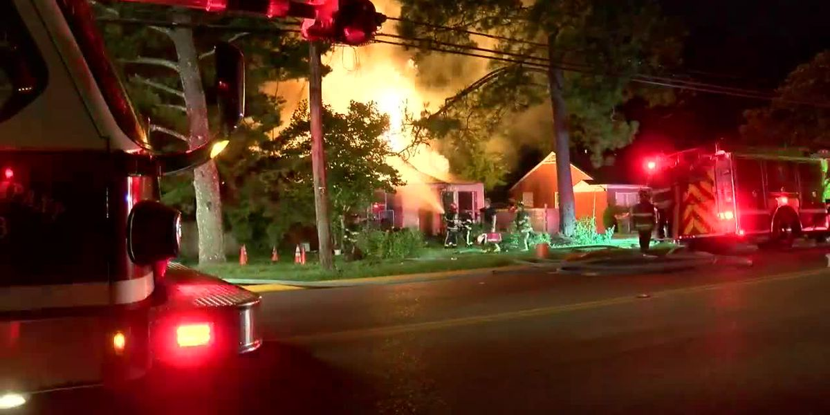 Overnight fire destroys Montgomery home.