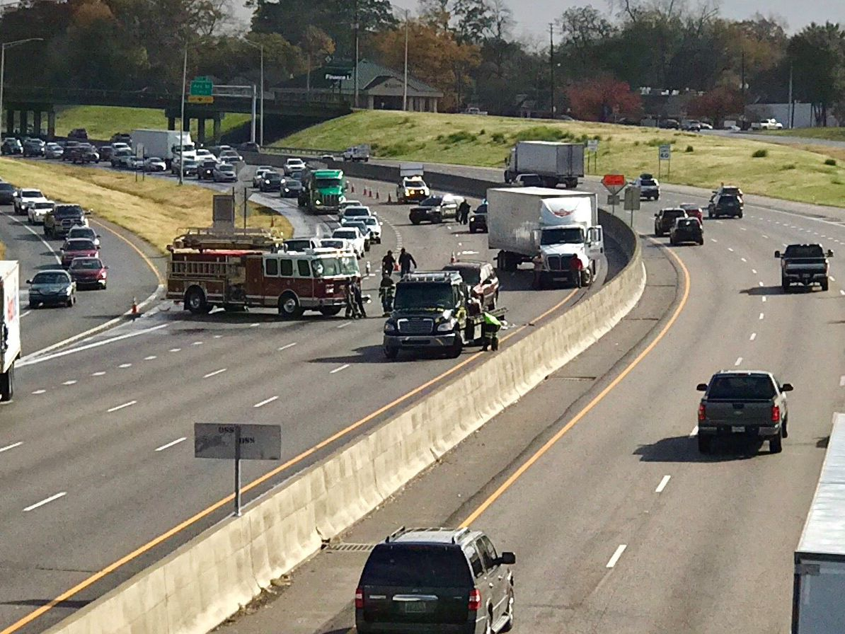 I-85 SB fully reopens after overturned vehicle cleared