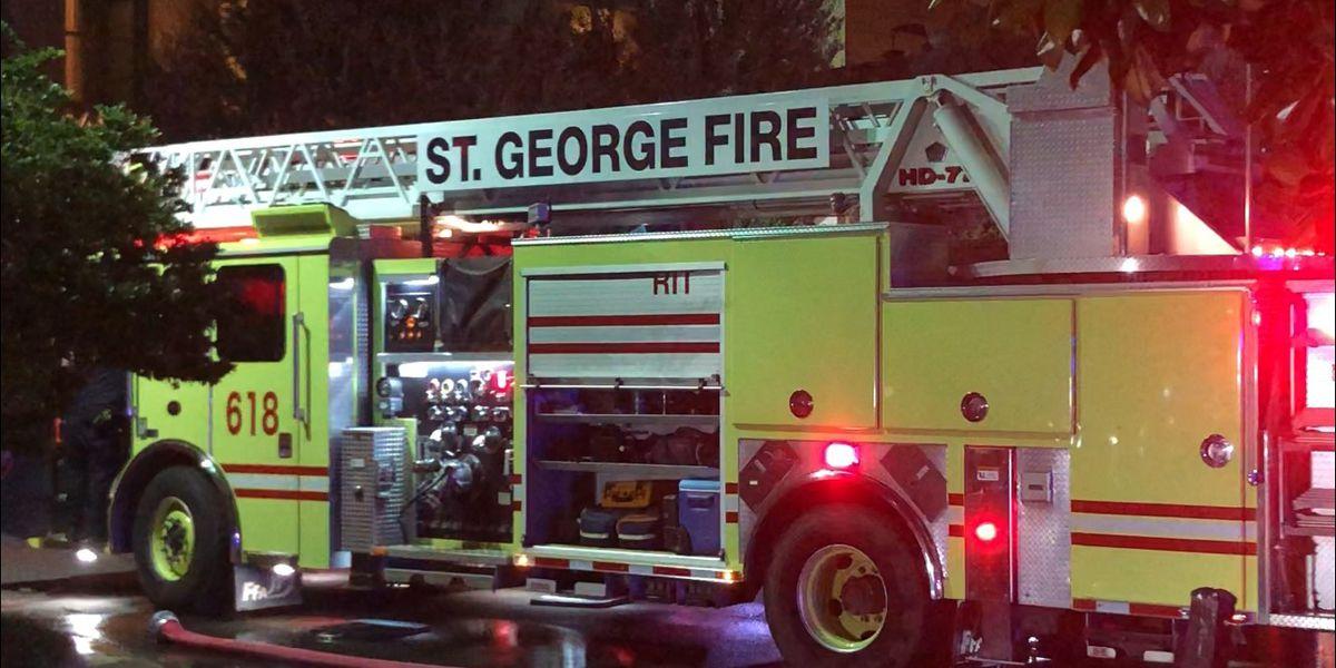 While firefighters were saving lives, burglars were smashing their car windows