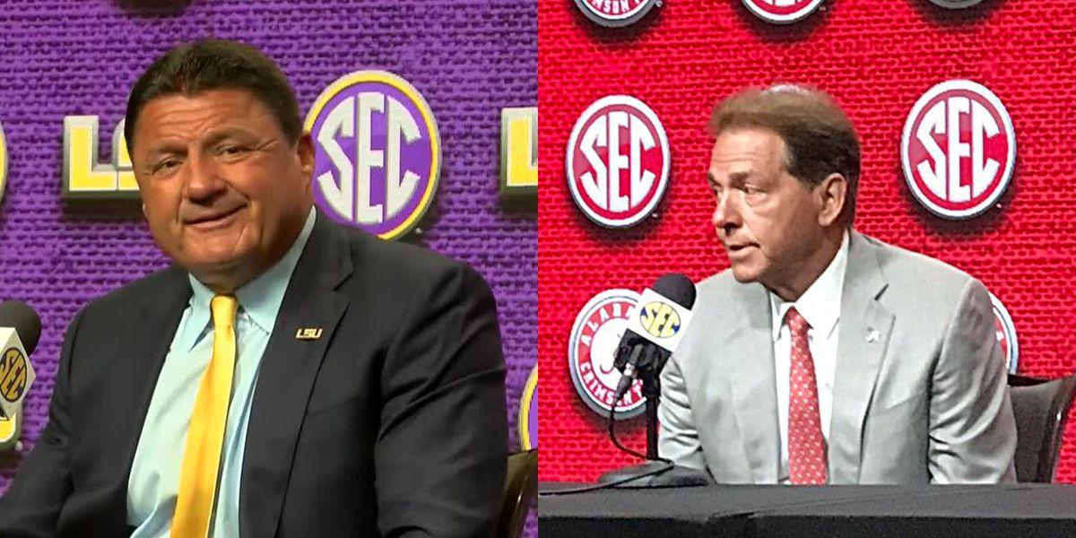 Alabama, LSU prepare despite game being in jeopardy