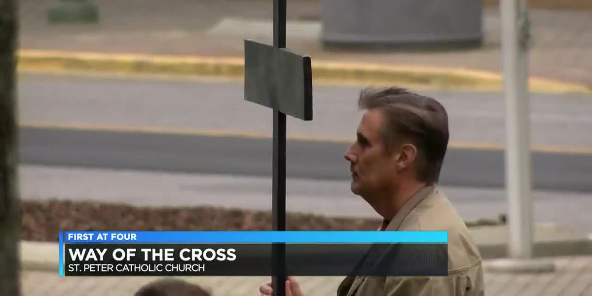 11th annual Way of the Cross procession heads through downtown