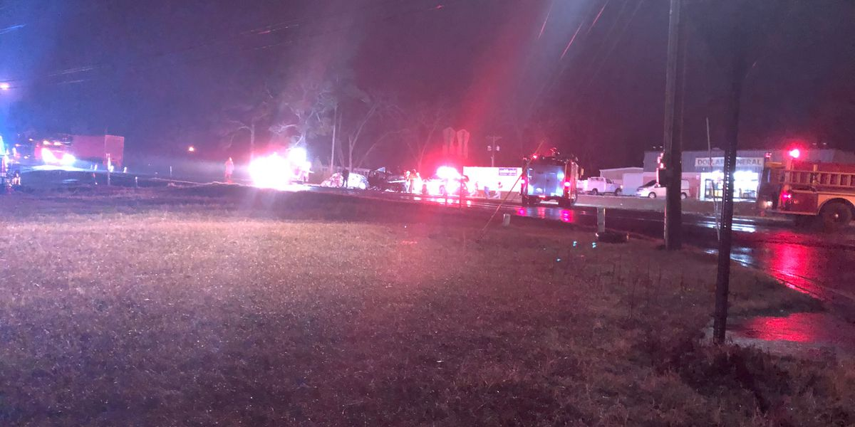 Multi-vehicle wreck blocks U.S. 231 near Hamilton Crossroads