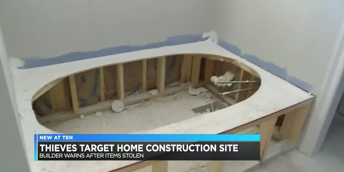 Home construction builder warns after thieves steal from site