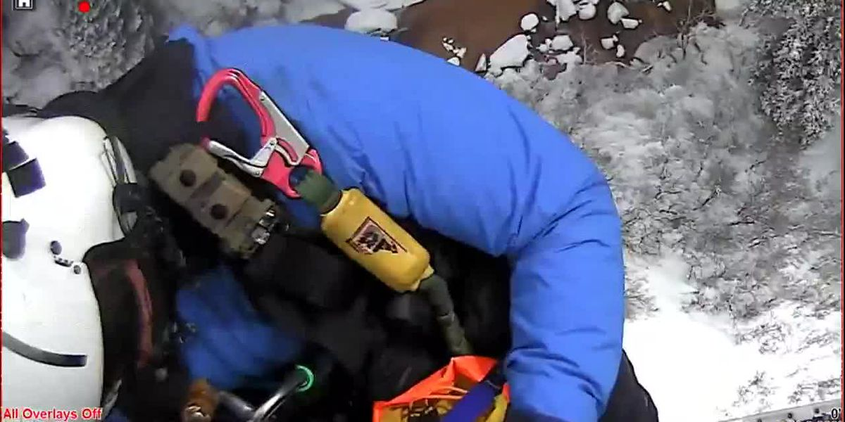 A hiker talks about being rescued after getting stuck in quicksand.